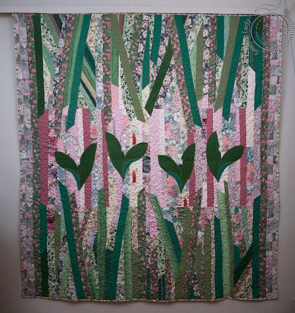 modern quilting, green patchwork quilt