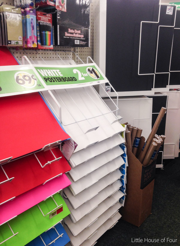 Dollar Tree Foam board