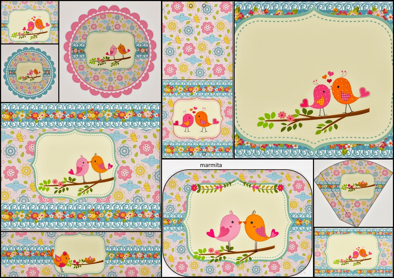 Lovely Birds: Free Printable Kit.