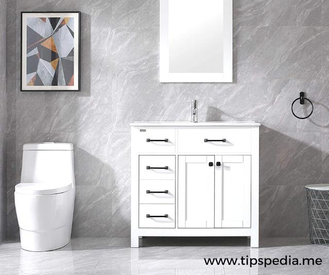 white vanity bathroom cabinets