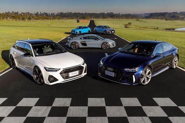 Audi RS 6, RS 7, RS Q3, RS Q3 Sportback e RS Q8 estão em pré-venda no Brasil - veja preços