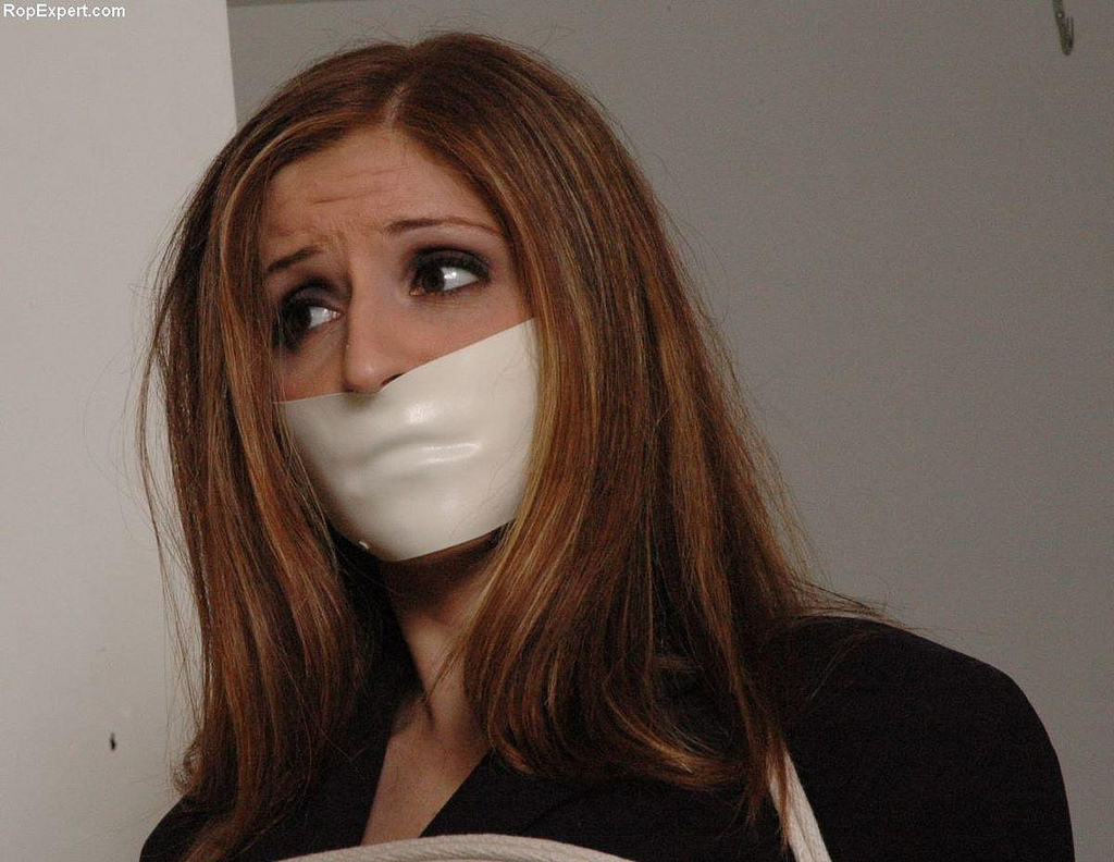 image Asian damsel microfoam tape gagged