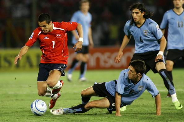 Chile y Uruguay en Clasificatorias a Sudáfrica 2010, 1 de abril de 2009