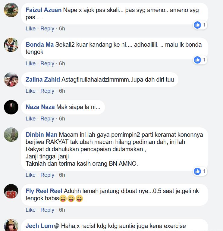 """""""Mak Sapelah Ni Bejoget Tak Ingat Dunia"""" - Video Makcik-Makcik Penyokong BN Jadi Tular Dan Jadi Bualan Netizen"""