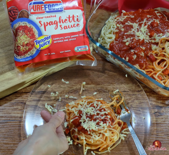 Good Food and Bonding with Purefoods Spaghetti Sauce w / the # 1 TJ Hotdog | Querida Kitty Kittie Kath 5