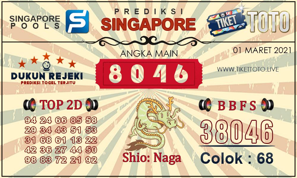 Prediksi Togel SINGAPORE TIKETTOTO 01 MARET 2021