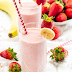 Υγιεινό smoothie με μπανάνα& φράουλα