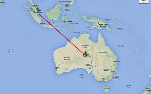 From Singapore To Australia