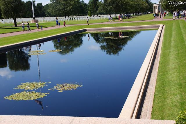 Ingresso del cimitero Americano in Normandia