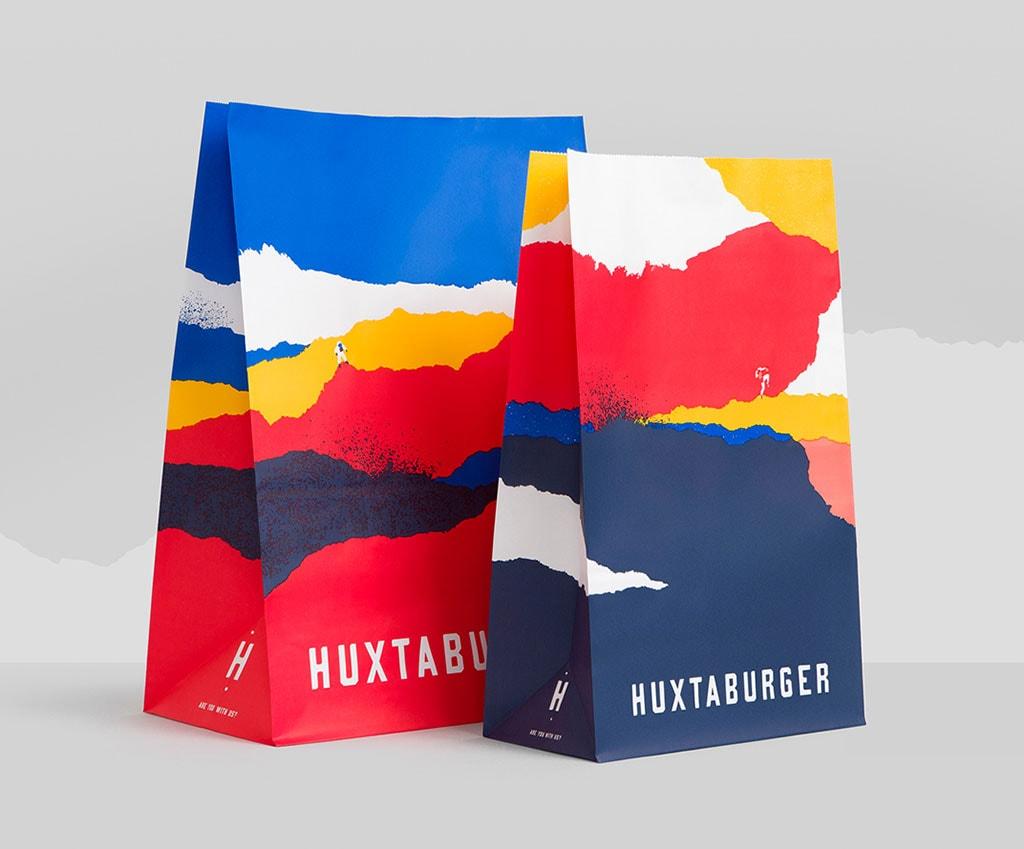 Inspirasi Desain Kemasan Packaging - Huxta Burger