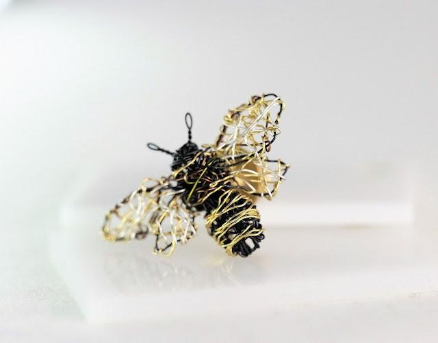 art gift, unique jewelry, bee sculpture