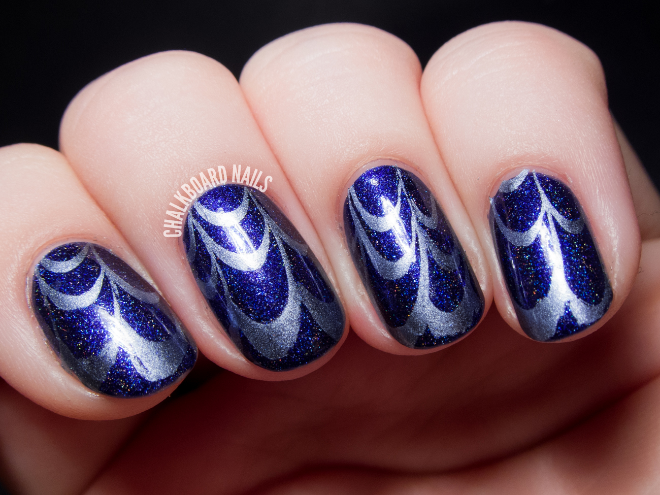 Water Nail Art: A Shortcut I'm Happy To Take: Water Marble Stamping