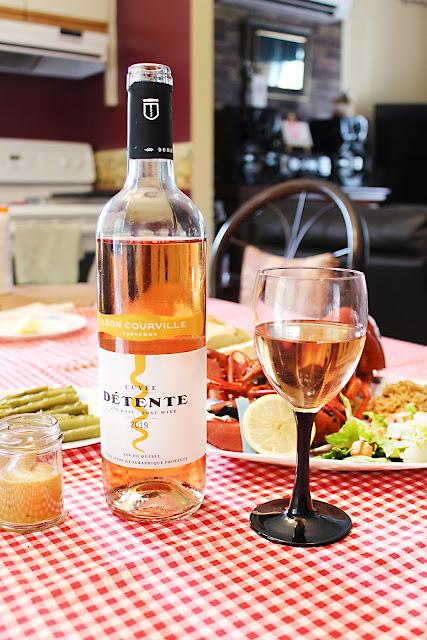 vin rosé vignoble Léon Courville Lac-Brome