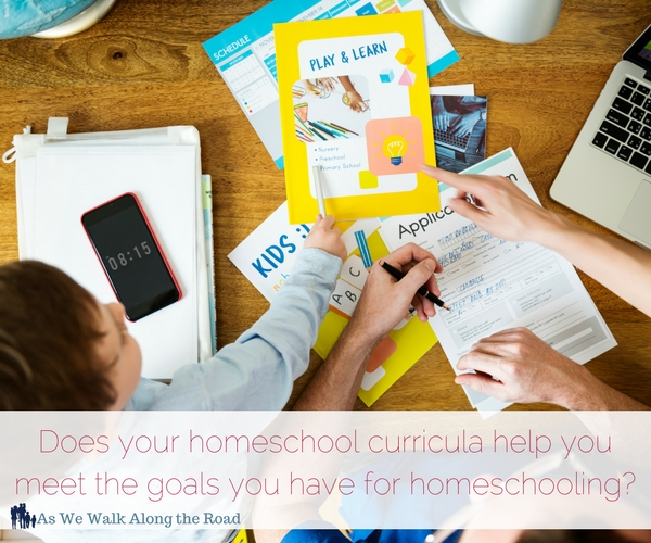 Homeschool goals and homeschool curricula