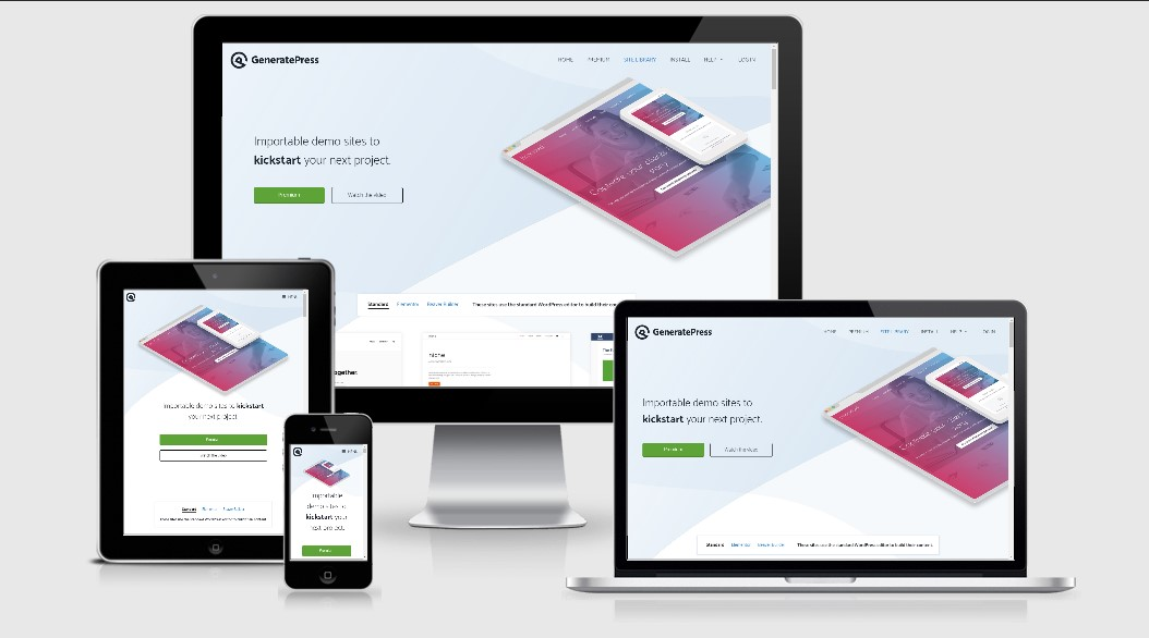 Download GeneratePress, Responsive Wordpress Theme [100% Original]