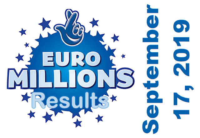 EuroMillions Results for Tuesday, September 17, 2019