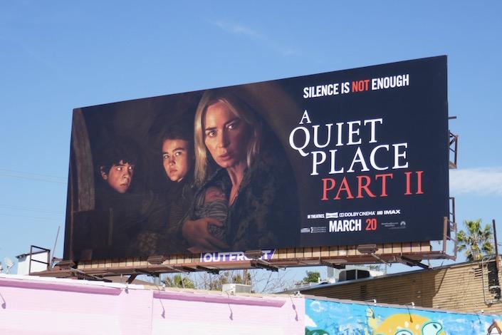 A Quiet Place Part II film billboard