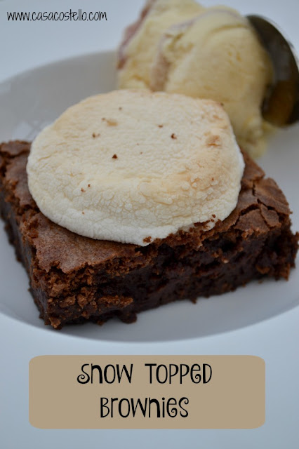 Featured Recipe | Snow Topped Brownies from Casa Costello #recipe #SecretRecipeClub #brownies #dessert