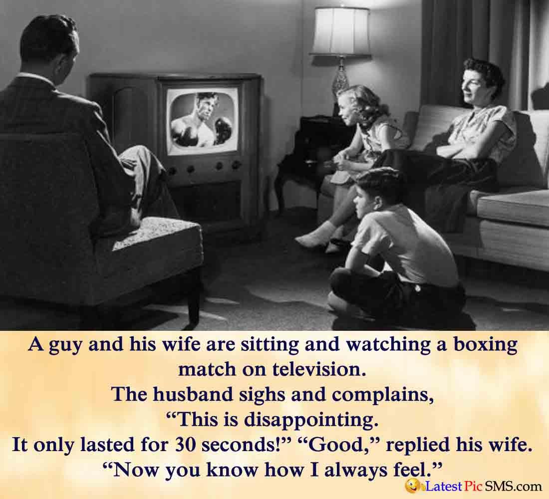Husband Wife Watching Television Joke