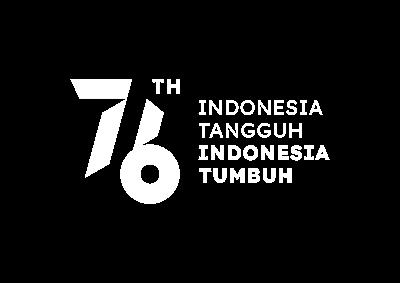 Logo HUT RI 2021 Transparan Warna Putih dengan Tagline (png)