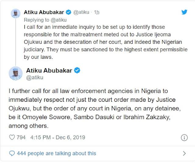 DSS court invasion: I'm in extreme anguish of spirit —Atiku