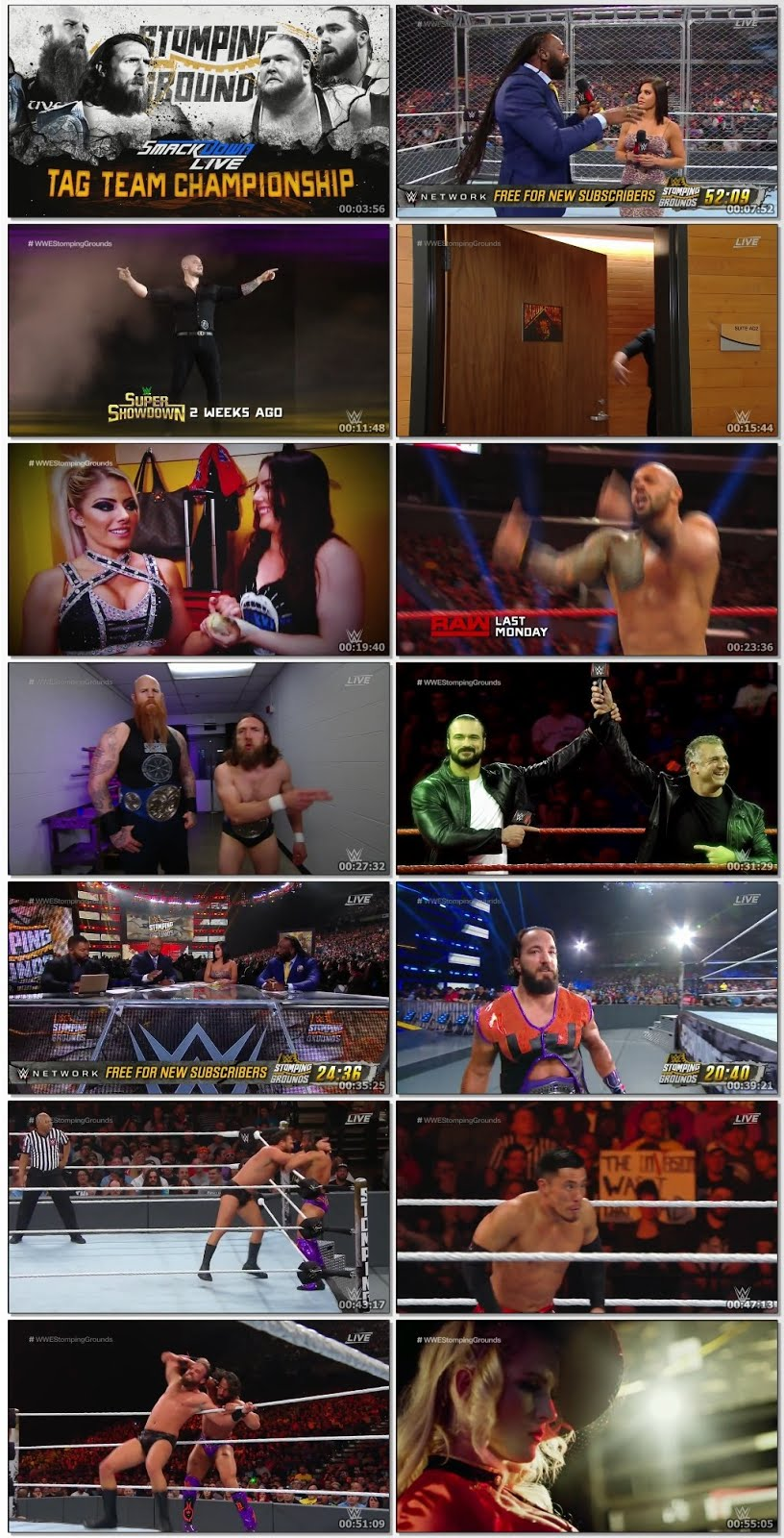 Screen Shot Of WWE Stomping Grounds KickOFF 23rd June 2019 HDTV 480P 300MB