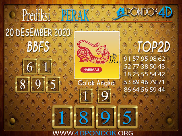 Prediksi Togel PERAK PONDOK4D 20 DESEMBER 2020