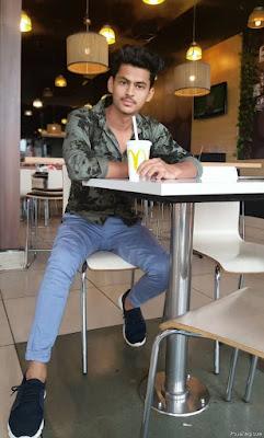 Stylish Photo Pose For Boys In Restaurant