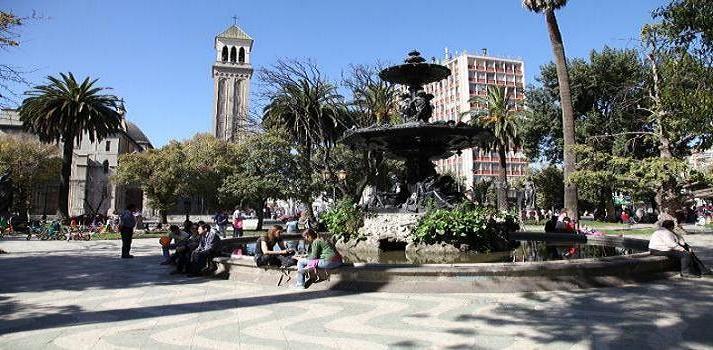 Victoria Square, Valparaiso, Chile.