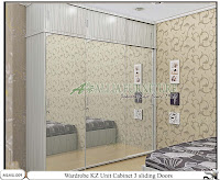 Lemari minimalis sliding unit cabinet KZ