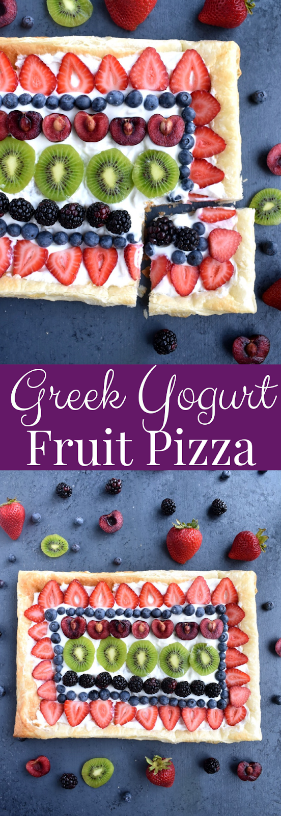 Greek Yogurt Fruit Pizza recipe