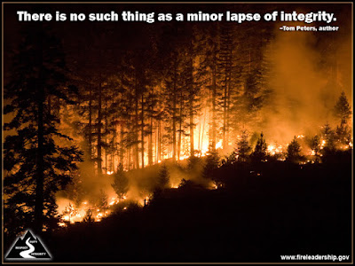 There is no such thing as a minor lapse of integrity. – Tom Peters, author