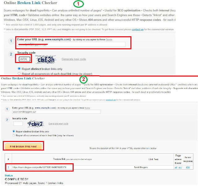 Website Broken Link Checker For Blogger In Tamil