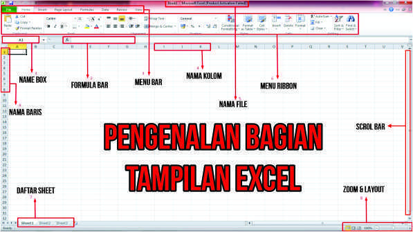 Pengenalan Bagian-Bagian Dasar Excel