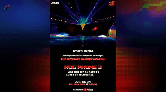 Asus ROG Phone 3    Launch on 22 July in Bharat    My Tech Flip
