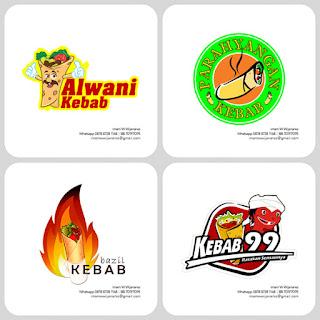 desain logo kebab