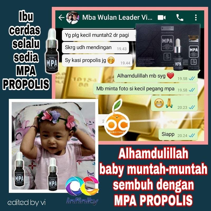 ANAK MUNTAH-MUNTAH  SEMBUH DIKASIH MPA PROPOLIS