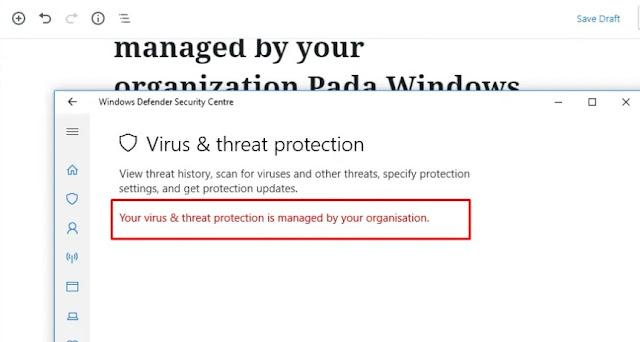 3 Solusi Real-Time Protection atau Windows Defender Yang Tidak Bisa Diaktifkan