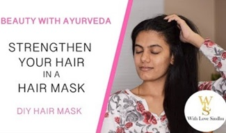 DIY strengthening hair mask