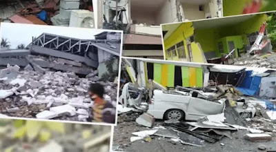 Gempa dahsyat di Sulawesi Indonesia