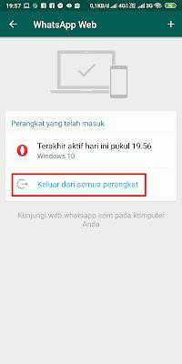Cara Logout dari Whatsapp Web