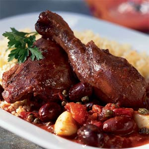 http://www.myrecipes.com/recipe/red-wine-braised-chicken-with-couscous