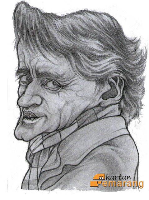 Caricature Roberto Mancini by Ikhsan Dwiono