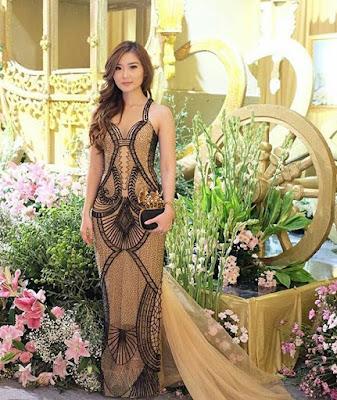 Kebaya Gaun Lengan Pendek