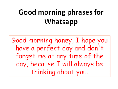 Good morning phrases for Whatsapp