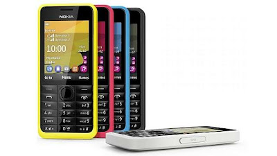Nokia 301 with 3G available in India for Rs.5099.00 and above on online portals