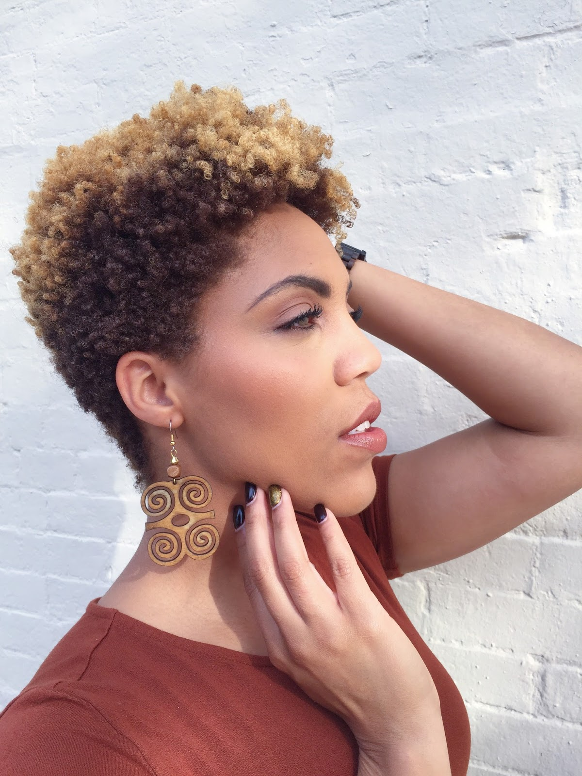 pretty girl curls: how to style a tapered cut on 4c hair
