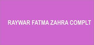 RAYWAR FATMA ZAHRA COMPLETE (dandalin littafan hausa)