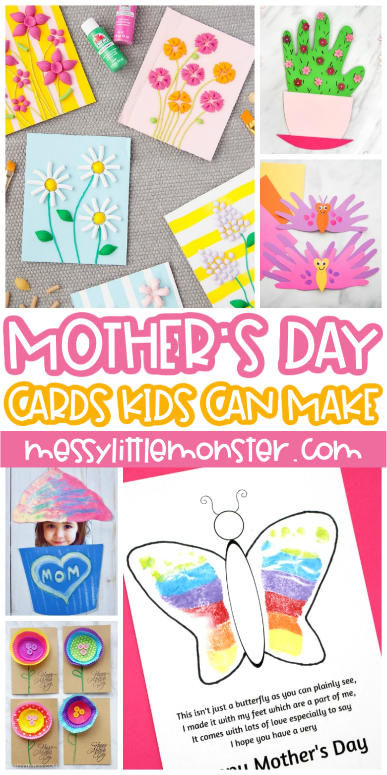 Magnificent Mothers Day Cards For Kids To Make Messy Little Monster Funny Birthday Cards Online Fluifree Goldxyz