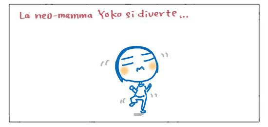 La neo-mamma Yoko si diverte...